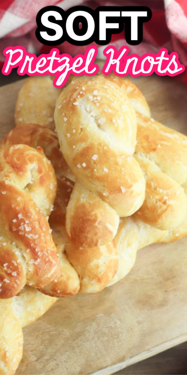 Make your own soft pretzel knots with this easy-to-follow recipe. It's great for a side dish or just a fun snack on its own! These are a little less overwhelming than a full pretzel! via @simplysidedishes89