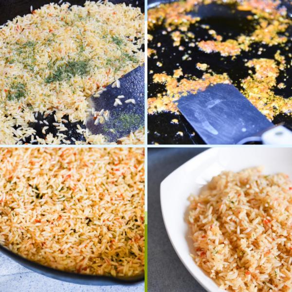 rice pilaf step by step