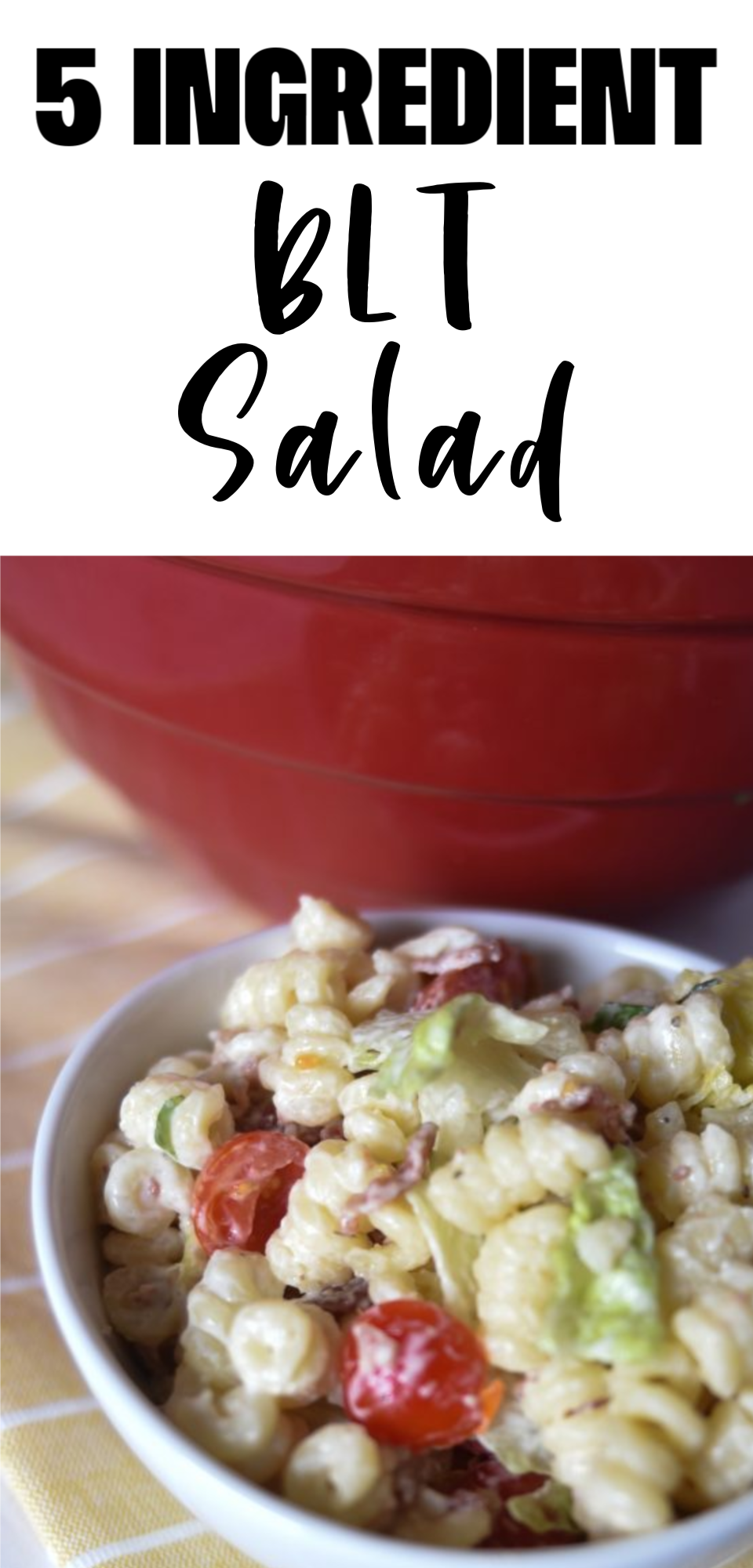 BLT Pasta Salad is the perfect summer salad. The crispy bacon and creamy dressing is the perfect combination. You will love our easy recipe for BLT Salad with pasta! via @simplysidedishes89