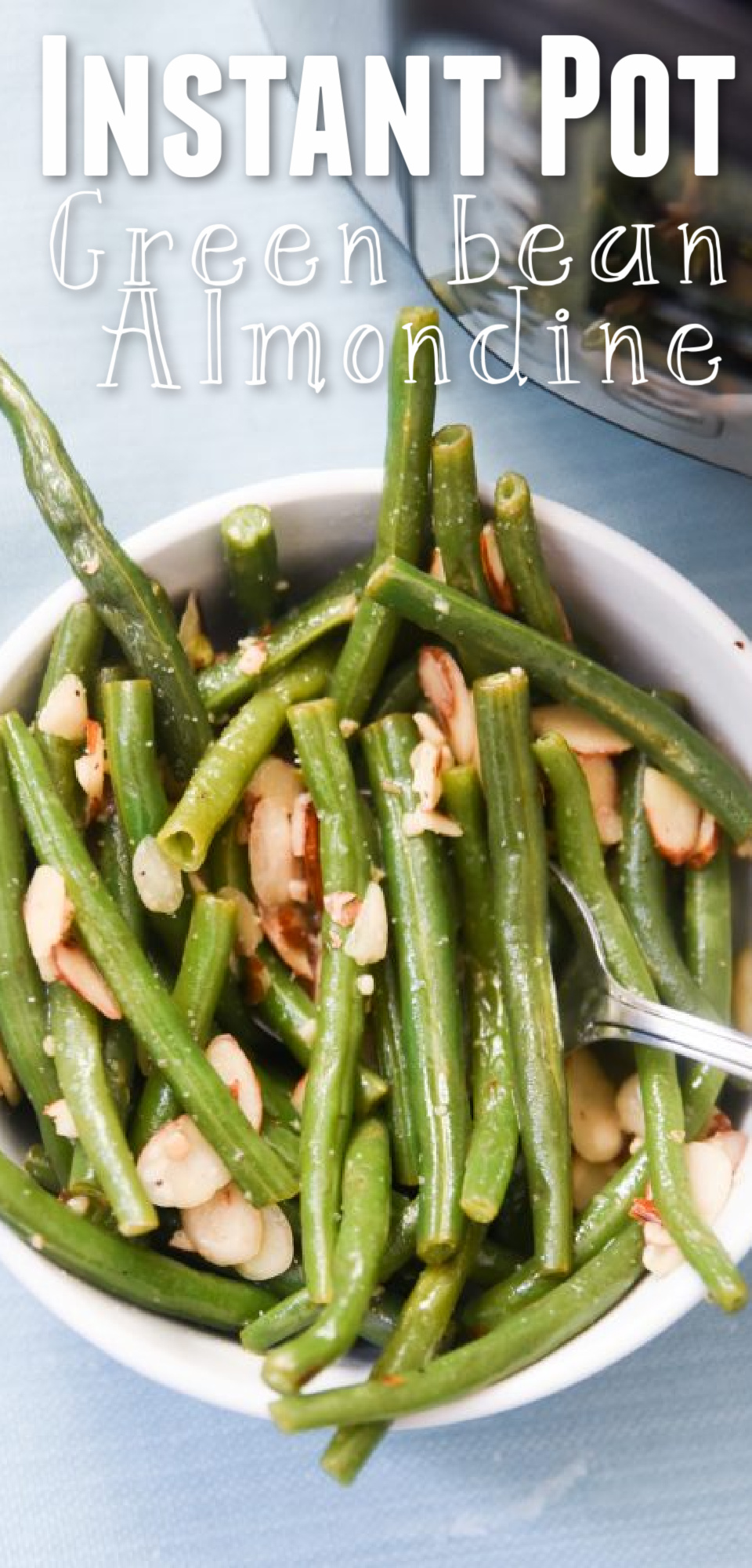 This easy Instant Pot side dish will give your dinner table a classy French twist. Try this Green Beans Almondine recipe to give your taste buds a healthy treat. via @simplysidedishes89