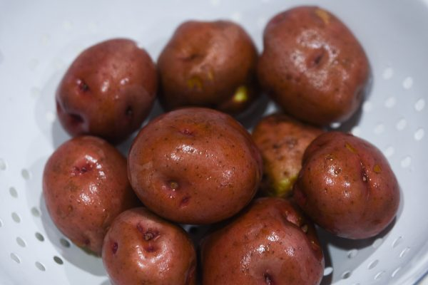 washed red potatoes