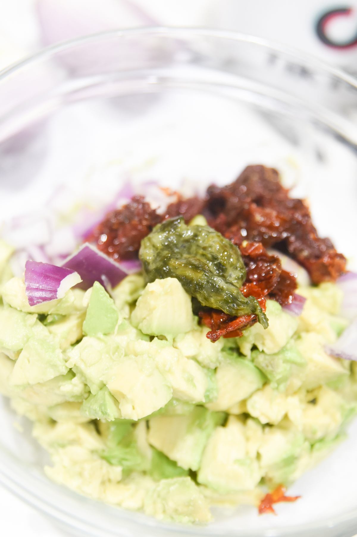 ingredients for avocado egg rolls