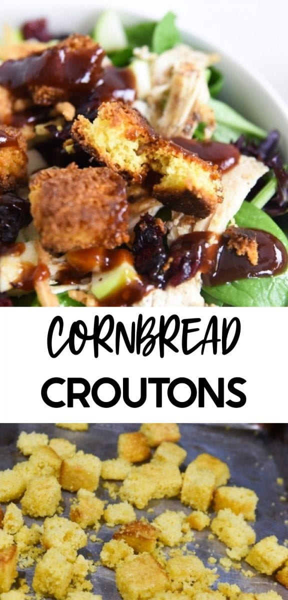 Cornbread and croutons are both crowd-favorite recipes. So we thought, why not combine the two to give you a deliciously crunchy addition to your next dish? This homemade cornbread crouton recipe is SO easy - just two main ingredients and a little salt and pepper. via @simplysidedishes89