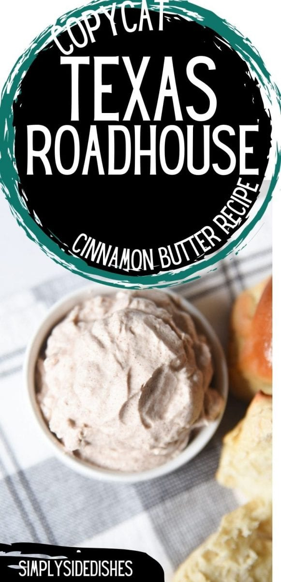 There are few things more delightful than the Texas Roadhouse butter. It's slightly sweetened with honey and has just enough cinnamon. This is the best copycat recipe out there! via @simplysidedishes89