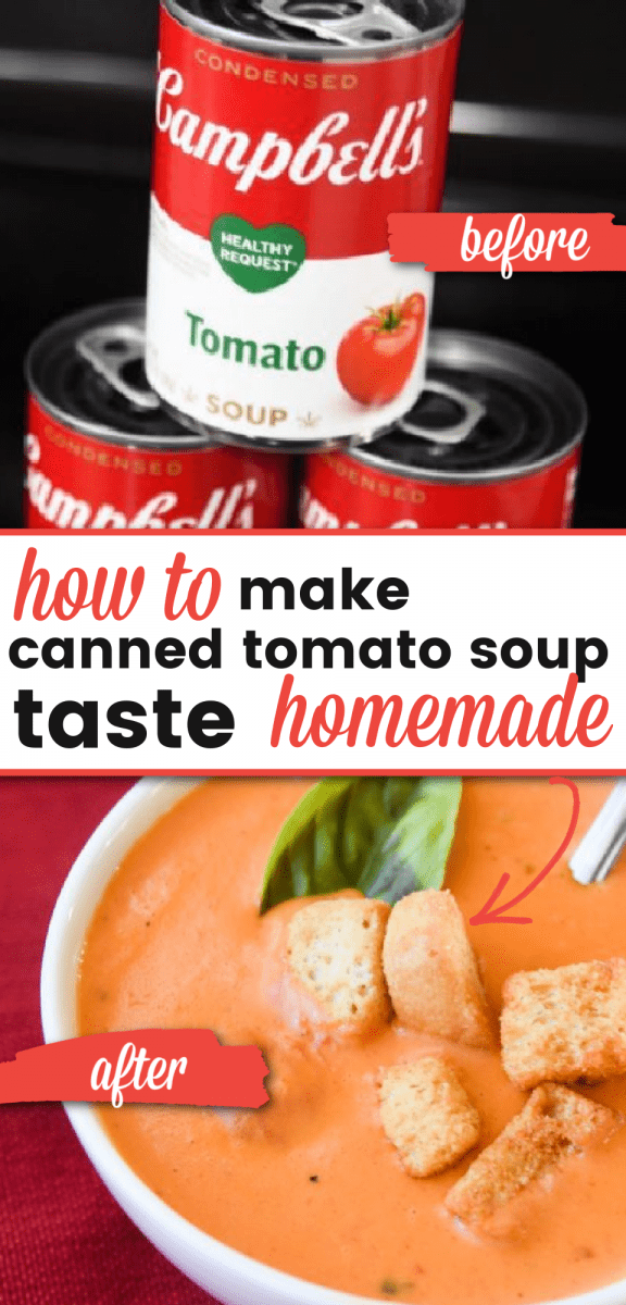 make canned tomato soup taste better