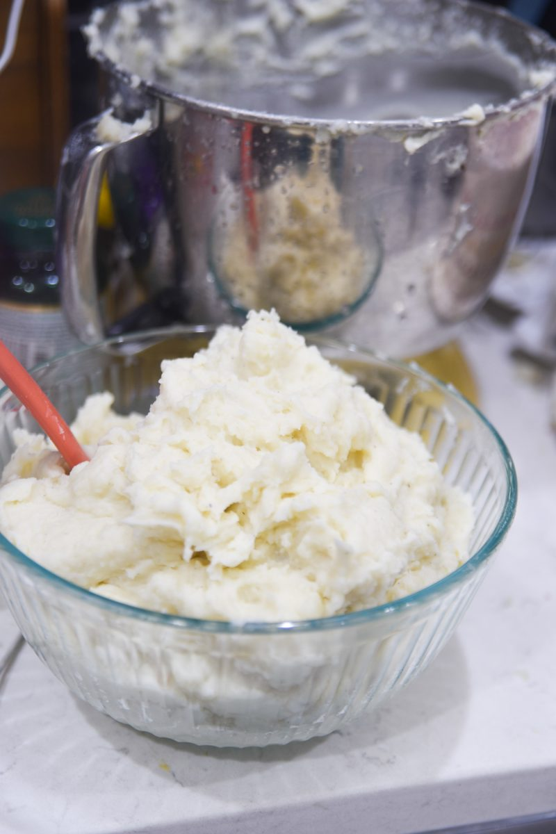 mashed potatoes in kitchen aid
