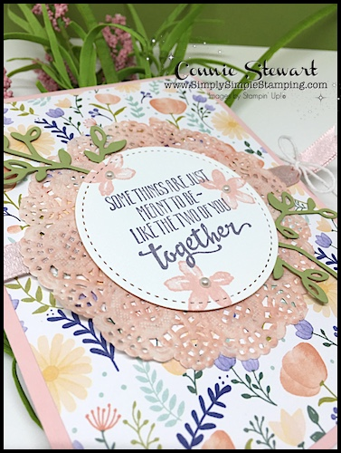 Make It Monday - Meant to Be Together Card - download the FREE tutorial at www.SimplySimpleStamping.com - look for the March 5, 2018 blog post!