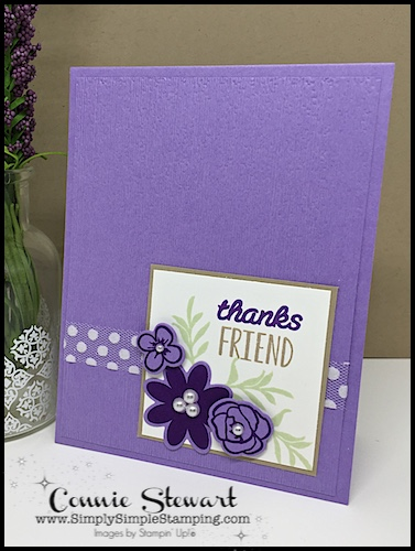 MAKE IT MONDAY FREE TUTORIAL - Thanks Friend card - download the FREE tutorial at www.SimplySimpleStamping.com - look for the June 25, 2018 blog post!