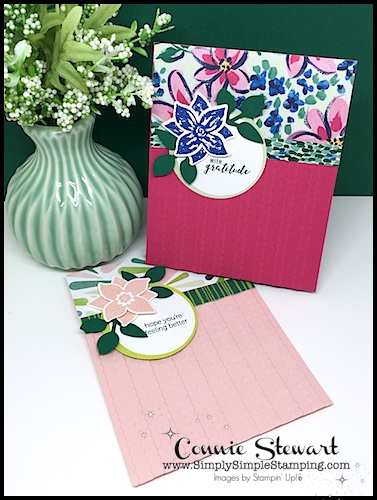 MAKE IT MONDAY FREE TUTORIAL - Pop of Petals card - download the FREE tutorial at www.SimplySimpleStamping.com - look for the July 09, 2018 blog post!