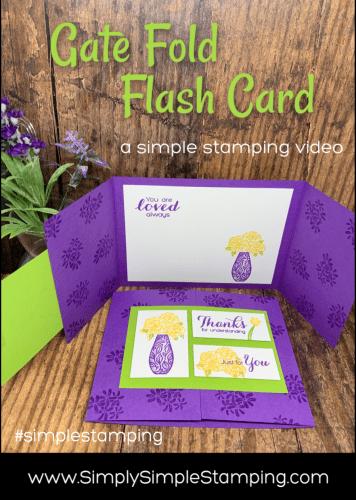 How to Make a Gate Fold Card
