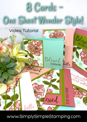 Create 8 Cards with Handmade Stamped Paper