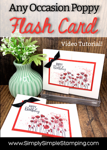 A Poppy Fun Fold Card You'll Love to Learn How to Make | Flash Card Series