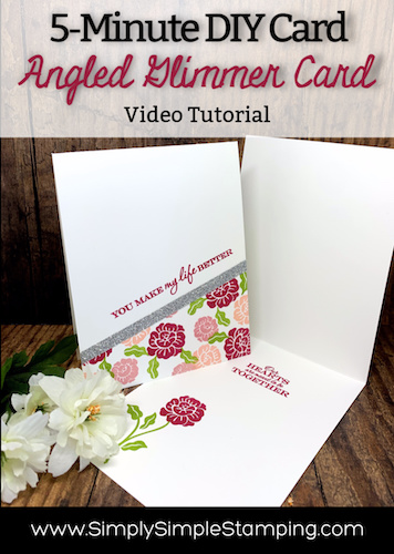 How to Make a Super Quick Glimmery DIY Card | 5 Minute Card Series