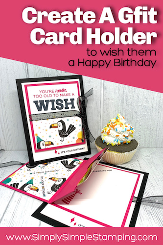 How to Make A FUN Birthday Gift Card Holder