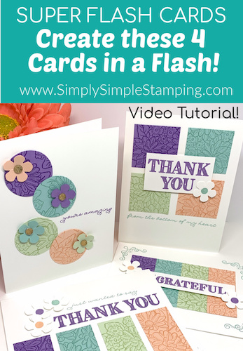 How to Make 4 Homemade Cards With Minimal Cardstock | SUPER FLASH CARDS