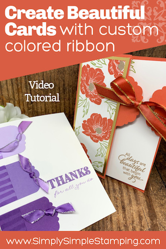 How to Make 2 Beautiful Greeting Cards With Custom Ribbon Accents