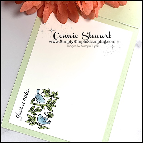 Don't forget to stamp the inside of your greeting card