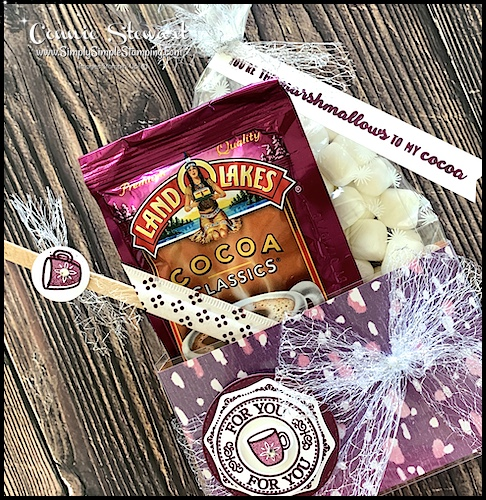 The Stampin' Up! Warm Hugs Bundle is perfect for this hot chocolate gift set
