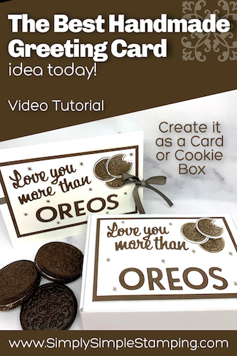 The BEST Greeting Card for Oreo Lovers + Learn the Kissing Technique