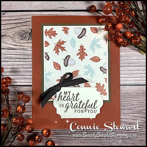 lovely fall card made in minutes with designer series paper
