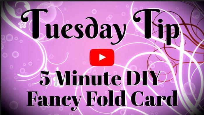 Fancy fold card video tutorial by Connie Stewart