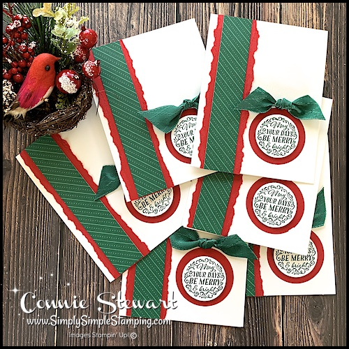 Did you know you can make unique Christmas cards in a batch process to save time?