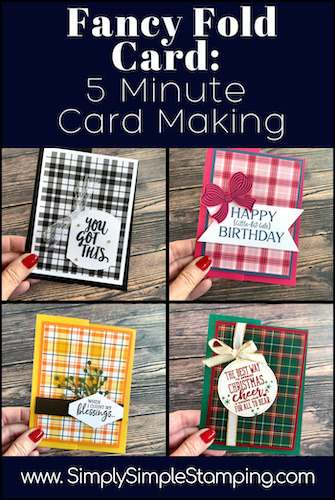 Fancy Fold Card: How to Make a 5 Minute Simple Card
