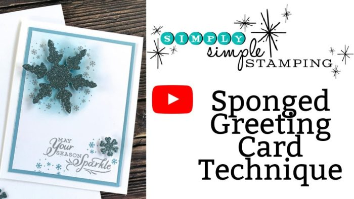 Learn this sponged greeting card technique with this video tutorial