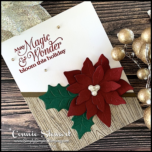 You can make a Christmas card with die cut poinsettia's in different sizes