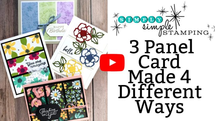 Learn to make easy 3 panel cards in this video tutorial