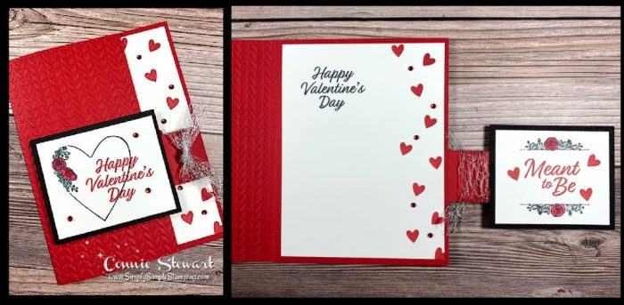 Make Valentine's Day cards with a fun flap that contains a message on the back.