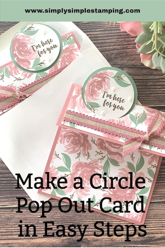 Make a Circle Pop Out Card in easy steps and save it to your card making board on Pinterest