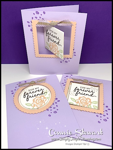 This floating image greeting card is the perfect handmade card for friends.