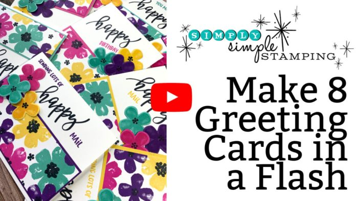 This video tutorial will show you step by step how to make 8 greeting card in minutes