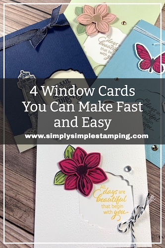 4 Window Cards You Can Make Fast and Easy