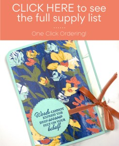 Click here to view supply list for sympathy card.