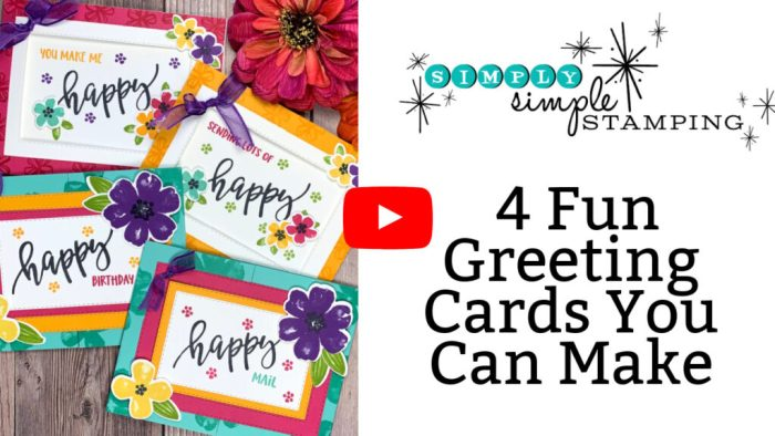 Pretty Perennials Greeting Cards can be made in minutes; check out the video!