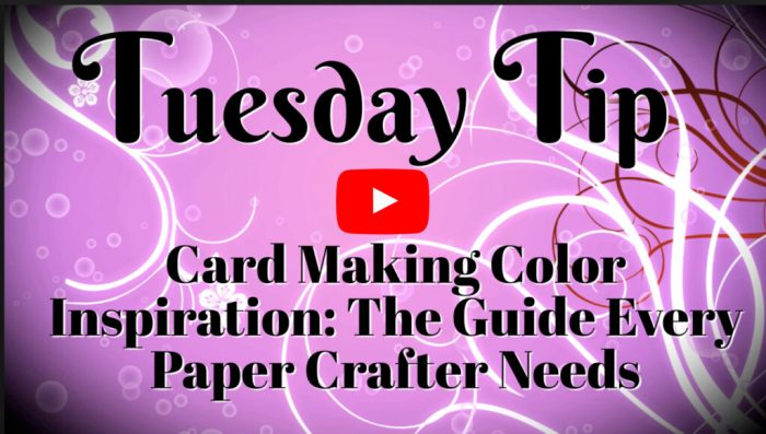 This is a video guide every paper crafter needs with great tips for card making color inspiration.