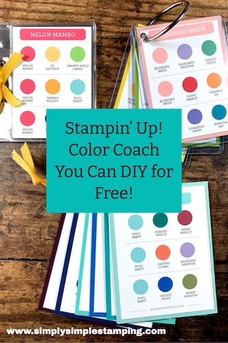 DIY Stampin' Up! Color Coach: Your Guide to Coming Up with Easy Color Combinations