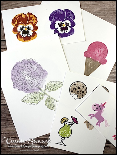2 step stamping ideas for paper crafting