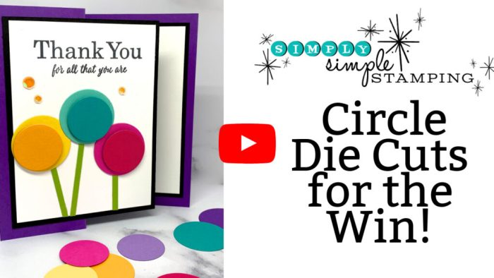 This card making tutorial will show you how to use circle die cuts in varied layers on your project.