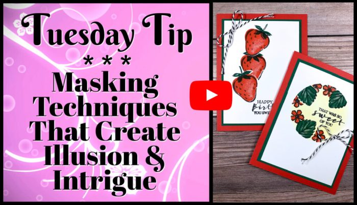 This video tutorial teaches you masking techniques to use on paper craft projects.