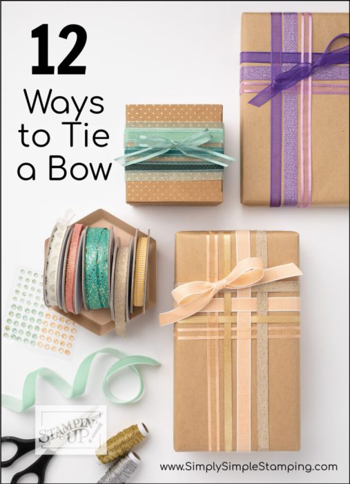 Learn how to tie a bow 12 different ways