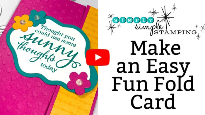 Video tutorial teaching you how to make an easy fun fold card in minutes