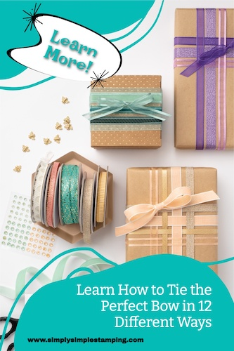 Tie a bow the easy way for card making, scrapbooking, and other paper crafts.
