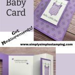 Get This Exact Cute DIY Baby Card Made in Minutes   SO Easy to Make
