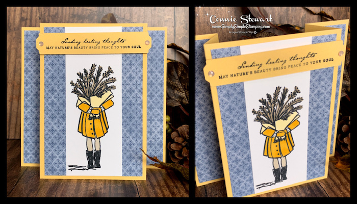 I loved using the Stampin blends on the pop up card image
