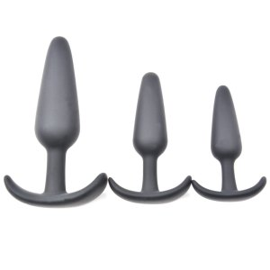 Black silicone anal trainer kit