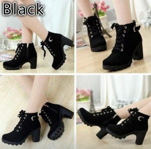 Sexy black ankle boot