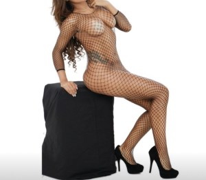 Black Fishnet Bodysuit